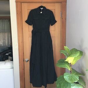Asilio elegant black maxi dress